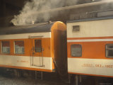 Steam Emanates from the Food Car of a Local Train Photographic Print