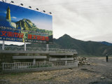 Large Government Sign Telling Tibetans to Be More Civilized People Photographic Print