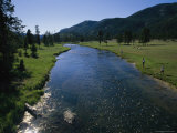 Fishermen Cast Their Lines into a Fast Moving River in Yellowstone Photographic Print by Gina Martin