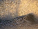 Sunrise Shines on a Breaking Wave at Hammonds Beach Photographic Print by Rich Reid