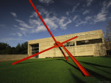View of Sculpture and Exterior of the Dallas Museum of Art Photographic Print by Richard Nowitz