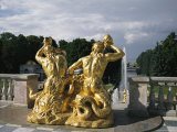The Triton Fountain at the Peterhof Photographic Print by Sisse Brimberg