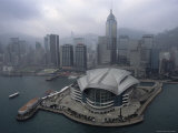 Aerial View of the Hong Kong Convention Center and Wan Chai Skyline Photographic Print