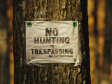 No Trespassing Sign Is Posted on Private Property Photographic Print by Raymond Gehman