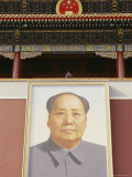 Large Portrait of Mao Hangs over the Entrance to the Forbidden City Photographic Print