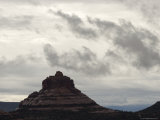 Cloud-Filled Sky over Bell Rock, a Main Energy Vortex in Sedona Photographic Print by Charles Kogod