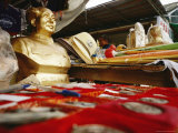 Statues and Other Mao Souvenirs for Sale in a Shaoshan Market Photographic Print by Justin Guariglia