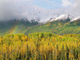 Rainbow Arches over the Wrangell Mountains Photographic Print by Rich Reid