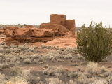 Wukoki Pueblo and Desert Landscape Photographic Print by Charles Kogod