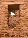 Wukoki Pueblo Window and Masonry Detail Photographic Print by Charles Kogod