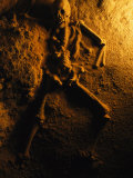 Skeleton from a Human Sacrifice Turns to Stone in a Cave in Belize Photographic Print by Stephen Alvarez