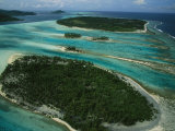 Bora Bora Islands as Seen from a Helicopter Photographic Print by Todd Gipstein