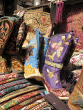 Silk Footwear is Sold at a Flea Market Photographic Print by Richard Nowitz