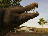 Andrea the Crocodile, a 66-Foot Model of a Saltwater Crocodile Photographic Print by Randy Olson