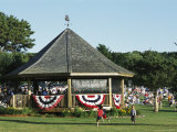 Bandstand and Crowd During a Summer Concert Photographic Print by Darlyne A. Murawski