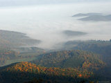 Sunlight Breaks Through Fog-Filled Shenandoah Valley Photographic Print by Charles Kogod