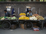 Street Vendors Sell Fruits and Vegetables Photographic Print by Todd Gipstein