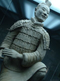 Terra-Cotta Warrior Excavated at Qin Shi Huangdis Tomb Photographic Print by Richard Nowitz