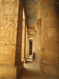 Tourists at the Mortuary Temple of Ramses Iii Photographic Print by Richard Nowitz