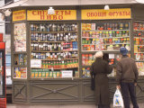 Snacks and Drinks are Sold from a Kiosk on Nevsky Prospect Photographic Print by Richard Nowitz