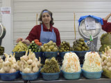 A Russian Woman Sells Salads and Pickles from an Outdoor Stand Photographic Print by Richard Nowitz