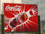 A Chinese Billboard Advertising Coca-Cola Photographic Print by Richard Nowitz