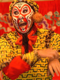 A Chinese Opera Performer in Monkey Makeup and Costume Photographic Print by Richard Nowitz