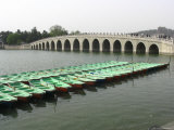 The Marble Seventeen Arch Bridge Spans Kunming Lake Photographic Print by Richard Nowitz
