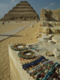 Necklaces Sold Near the Step Pyramid of Djoser Photographic Print by Richard Nowitz