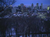 View of the Montreal Skyline from High Atop Mount Royal Park Photographic Print by Melissa Farlow