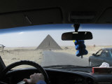 The Pyramid of Cheops as Seen Through the Windshield of a Taxi Photographic Print by Richard Nowitz