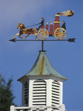 Fire-Wagon Weather Vane Atop a Cupola Photographic Print by Darlyne A. Murawski
