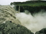 Lava Fields Surround Dettifoss, Icelands Most Impressive Waterfall Photographic Print by Sisse Brimberg