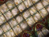 The Stained Glass Ceiling in the Grand Hotel Europa Dining Room Photographic Print by Richard Nowitz