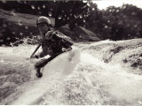 A Female Kayaker on the Gauley River Photographic Print by Stephen Alvarez