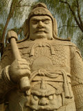 A Stone Figure of an Official Standing Guard on the Sacred Way Photographic Print by Richard Nowitz