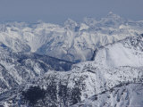 Snow-Covered Selkirk Mountains Photographic Print by Skip Brown