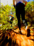 Adventure Racing Through the Woods Photographic Print by Skip Brown