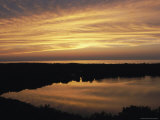 Sunset View of Ocean and Scargo Lake Looking North from Scargo Tower, the Highest Point on Cape Cod Photographic Print by Darlyne A. Murawski