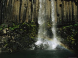 The Svartifoss Waterfall is Flanked by Basalt Columns Photographic Print by Sisse Brimberg