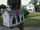 A Mailbox Designed to Look Like a Church Fotografisk tryk af Darlyne A. Murawski