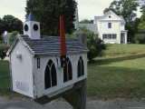 A Mailbox Designed to Look Like a Church Photographic Print by Darlyne A. Murawski