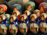 Nesting Dolls are Sold in a Gift Shop Photographic Print by Richard Nowitz