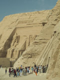 The Facades of the Abu Simbel Temples Dedicated to Ramses Ii Photographic Print