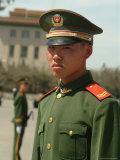 Soldiers Stand Guard in Front of Tiananmen Square Photographic Print by Richard Nowitz