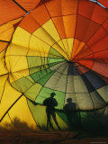 Silhouettes of People Behind a Balloon at a Hot Air Balloon Festival Photographic Print by Steve Winter