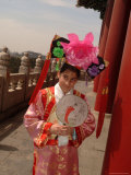 A Tourist Dresses in a Ming Dynasty Costume Photographic Print by Richard Nowitz