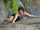 Woman Rock Climbing Photographic Print by Skip Brown