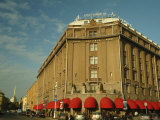 The Red Awnings of the Hotel Astoria Photographic Print by Richard Nowitz