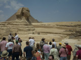 Tourists View the Great Sphinx Photographic Print by Richard Nowitz